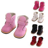 Zubehör für Puppen 18 Inch Dolls Schuhe für Puppen Stiefel PU Lederschuhe