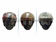 Genuine Royal Enfield Helmet - Classic Jet Camo MLAG With Remx Goggles Black