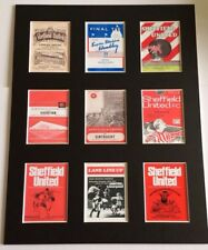 """More details for sheffield united fc vintage football programmes picture 14"""" x 11"""" free postage"""