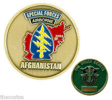 ARMY SPECIAL FORCES AIRBORNE AFGHANISTAN THE GREEN BERETS CHALLENGE COIN