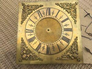 Longcase grandfather clock dial/movement