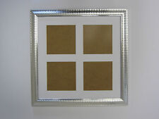 Two Tone Silver 14x14 Square Multi Aperture Picture Photo Frame  5x5 Photos
