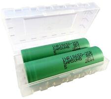 2x Samsung 18650 Akku 25R 2500mAh 20A + Akkuschutzbox Lithium Ionen E-Zigarette