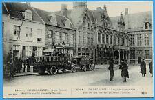 CPA: En Belgique - Auto Canon sur la place de Furnes / Guerre 14-18