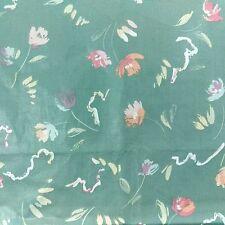 Vintage Stanley King Studio Upholstery Fabric 2 yd x 54 Chintz Pastel Sage Green