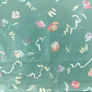 Vintage Stanley King Studio Upholstery Fabric 2 yd x 54 Chintz Pastel Sage Green
