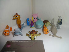 FINDING NEMO CAKE TOPPERS 12 PLASTIC FIGURES AND 1 FREE GIFT BRAND NEW FREE P+P