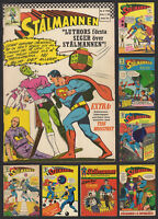 Superman Stålmannen 1963-69 Vintage Swedish DC Comics - U-Pick Choose Comic List