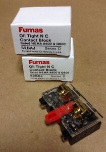 2 Furnas Oil Tight NC Contact Block 52BAJ Series D FREE SHIPPINGINVB17