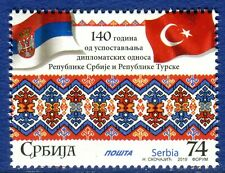 1421 SERBIA 2019 - Diplomatic Relations Between Serbia and Turkey - Flags - MNH