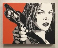 ALICE RESIDENT EVIL MILLA JOVOVICH  ORIGINAL CANVAS PRINT READY TO HANG!!!