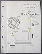 Mariner Wiring Diagram C.D. II 5HP Deluxe Thru 40HP Manual Start w/A.C. Lighting