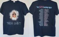 Taylor Swift 1989 World Tour Concert Dates S M L XL Shirt Blue Never Worn