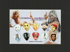 Christina Aguilera Matted Picture Guitar Pick Set Limited Say Something