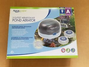 Aquascape 2-Outlet Pond Air 2 Aeration Kit plus line and stones