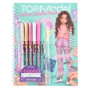TOPModel Fashion Doodle Book Gelstifte Glitzerstifte Sticker Malbuch Stickerbuch