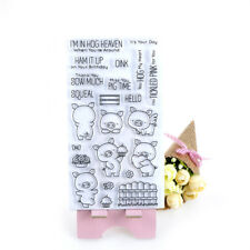 Cute Pig Transparent Clear Silicone Stamps for DIY scrapbooking cards decor