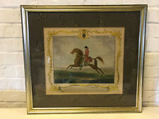 Antique 18th Cent. Richard Houston Engraving Horse Print Childers Run Newmarket
