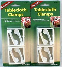 "8 PK SPRING LOADED TABLECLOTH CLAMPS FITS TABLES UP TO 2"" THICK- DURABLE PLASTIC"