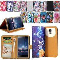 For Various HomTom Smartphones - Leather Smart Stand Wallet Cover Case