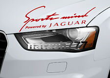 Sports mind Powered by JAGUAR X S Tipe Racing Decal sticker emblem RED