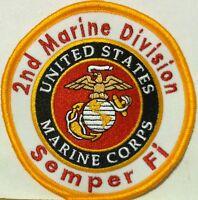 2nd Marine Division Semper Fi United States Marine Corps Iron On Patch USMC
