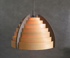 Holz Lamellen Deckenleuchte 60er 70er Jahre Span Hänge Lampe Mid Century Design