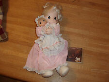 Precious Moments 1991 Doll With Baby Doll- Mint!