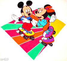 """20"""" DISNEY  MICKEY & MINNIE MOUSE SKATING  WALL SAFE FABRIC DECAL CUT OUT"""