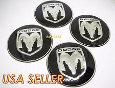 4X NEW DODGE BLACK WHEEL 55MM RIM CENTER CAP STICKER DECAL NEON CHALLENGER SRT