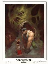 Eric Powell The Goon Signed Numbered LE Dark Horse Comics Art Print SPOOK HOUSE
