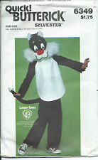 B 6349 child COSTUME sew PATTERN Puddy Cat SYLVESTER Looney Tunes 2-4,6-8,10-12