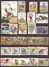 80T5 LAOS 1 Bloc +26 timbres oblitérés: Sports d'hiver et d'été