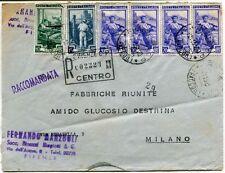 1951 Italia al Lavoro RACCOMANDATA Manzoli succ. Binanzi Biagiotti FRAGD Firenze