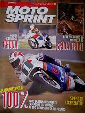 Motosprint 32 1989 Spencer licenziato. Sfida Trial Beta 50, Fantic 50. Honda Q77