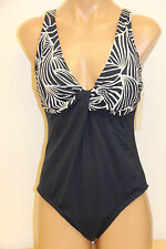 NWT Anne Cole Swimsuit Bikini One 1 pc Sz 12 Navy White