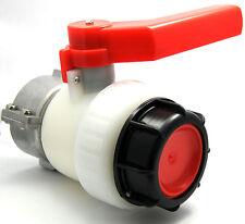Vanne à bille pour cuve 1000L 56mm IBC robinet récupération eau pluie S60x6