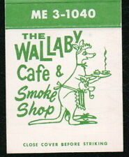 SEATTLE WA Wallaby Cafe & Smoke Shop Vtg Restaurant Match Book Cover Advertising