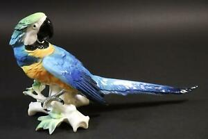 Vogel Papagei 36 cm bemalte Porzellanfigur ENS (CP290)
