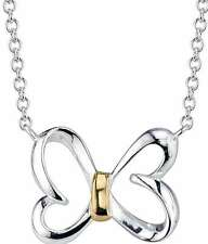 """18"""" Disney 10K Yellow Gold & Sterling Silver He Loves Me He Loves Me A Lot Chain"""