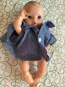 VINTAGE EEGEE BABY BOY DOLL # 12 NEW BORN ANATOMICALLY DRINKS WETS Vinyl