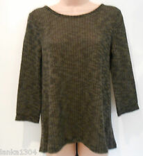 M&S 3/4 Sleeve Party Tunic Top Blouse with Black Panel (NEW) Size 8 or 12-£25.00