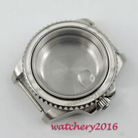 40mm PARNIS Sapphire Glass glass Watch Case fit 8215 2836 Movement free shipping