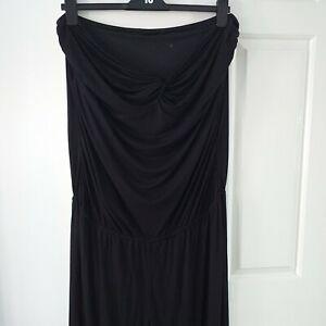 Next Black Jersey Strapless Ladies Jumpsuit UK 20