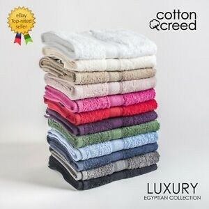 Luxury Egyptian Cotton Towel SuperSoft 500 GSM Face Hand Bath Towels 100% Cotton