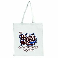 The Worlds Best Gas Installation Engineer - Large Tote Shopping Bag