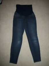 f10da6362e73e A Pea In The Pod Maternity XS Blue Denim Whisker Wash Stretch Skinny Jeans