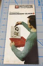 Vintage Paterson Darkroom GUIDE  Equipment Dealer Brochure PAMPHLET