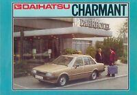 1 Daihatsu Charmant Prospekt 1982 2/82 brochure catalog broszura prospectus