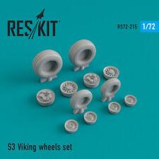 S-3 Viking wheels set (Resin Upgrade set) 1/72 ResKit RS72-0215